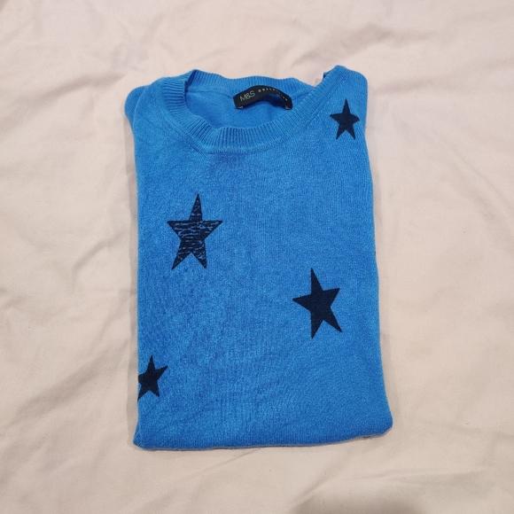 M&S starry knitwear top